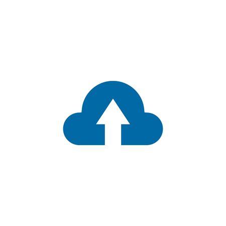 Upload icon logo design vector illustration template