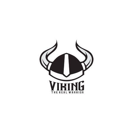 Viking helmet icon logo design vector illustration template Illustration