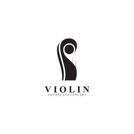 Violin logo icon design vector illustration template Иллюстрация