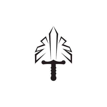 Sword logo icon design vector illustration template