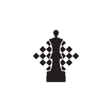 Chess sport logo design vector icon template illustration Stock Illustratie