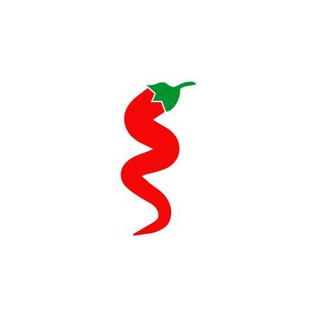 Red chili logo icon design vector illustration template