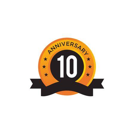 10th year anniversary emblem design vector illustration template