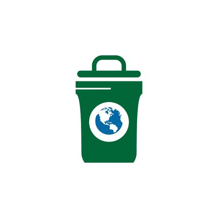 Trash bin icon design inspiration vector illustration template Illustration