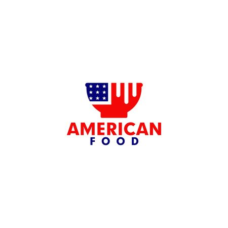 American food design inspiration vector template