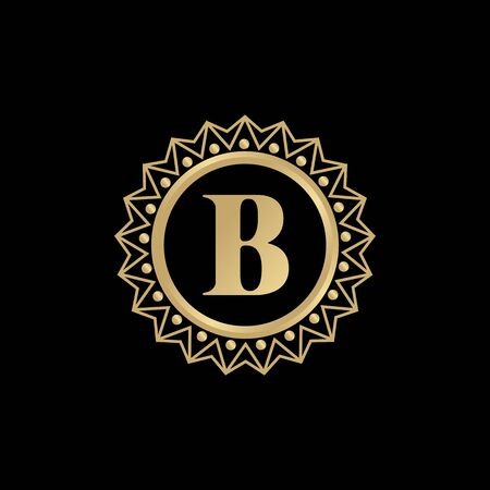 B luxury letter design illustration with isolated background template Stock Illustratie
