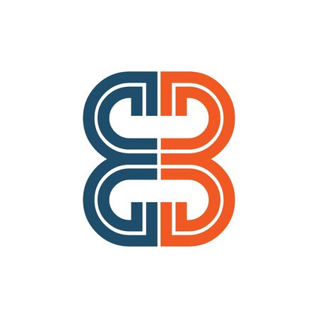 BB letter initial icon design vector template