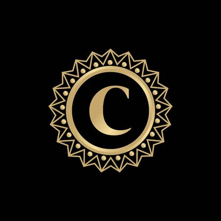C luxury letter design inspiration vector illustration with isolated background