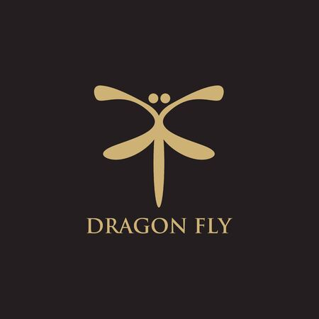 Dragonfly icon design vector illustration template