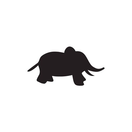 Elephant design vector template with isolated background Stock Illustratie
