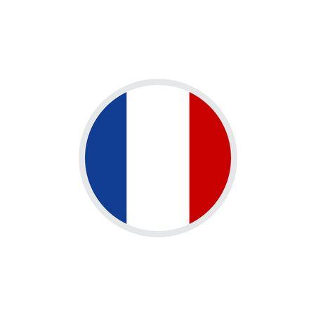 France flag emblem icon design vector template illustration