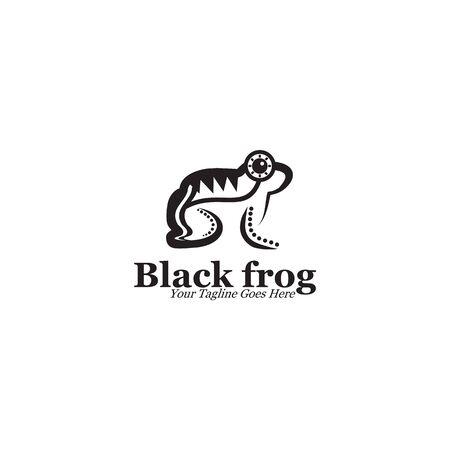 Inca Frog icon  design vector illustration template Stock Illustratie