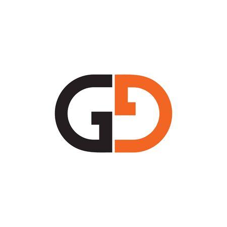 GG letter initial design vector icon template Stock Illustratie