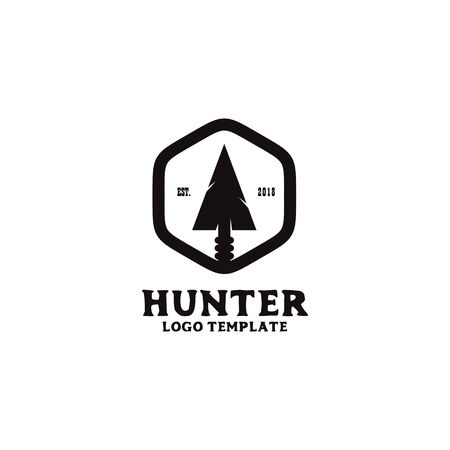 Hunter design with weapon vector icon template