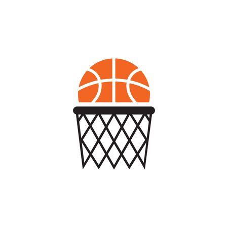Basketball club logo design vector template illustration