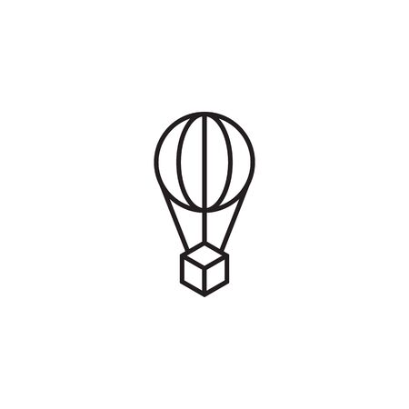 Flying air balloon logo icon design template illustration Illustration