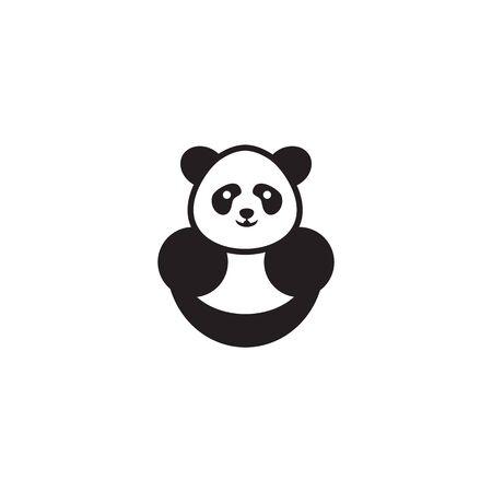 Panda icon logo design illustration vector template