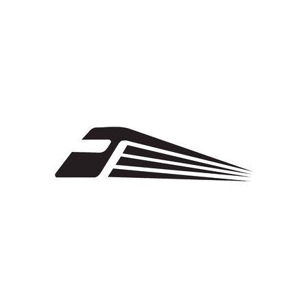 Modèle vectoriel de conception de logo d'icône de train futuriste