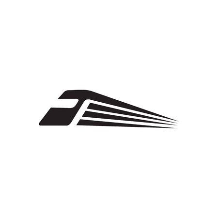 Plantilla de vector de diseño de logotipo de icono de tren futurista