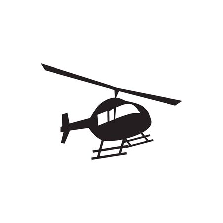 Helicopter icon logo design vector illustration template