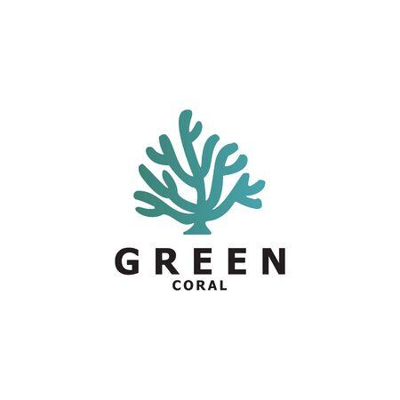 Coral logo design vector template illustration