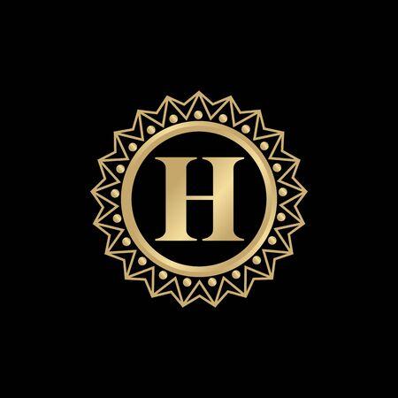 H letter icon logo design vector template illustration