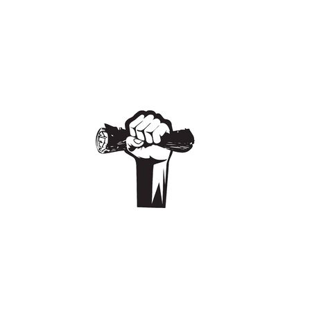 Hand icon logo design vector template illustration