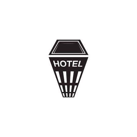 Hotel building logo design vector template illustration Illustration