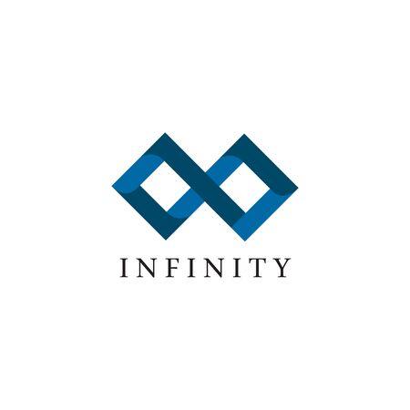 Infinity logo design vector template illustration