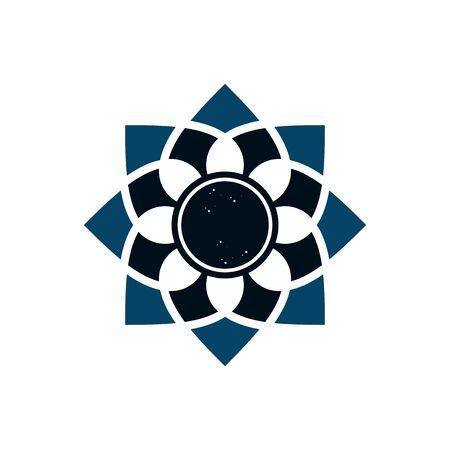 Islamic ornament icon logo design template illustration