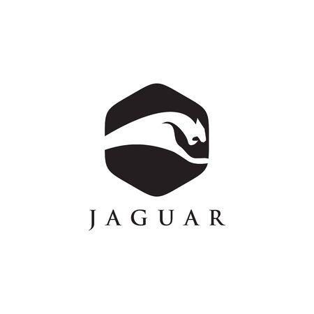 Jaguar logo design vector template illustration Illustration