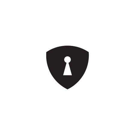 Keyhole logo design vector template illustration