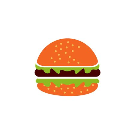 Burger restaurant logo design vector template illustration