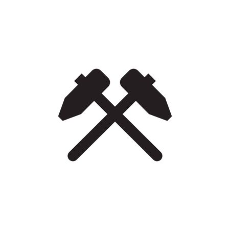 Hammer logo design vector template icon illustration