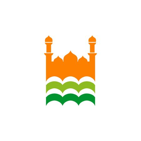 Mosque logo icon design vector template illustration Ilustração