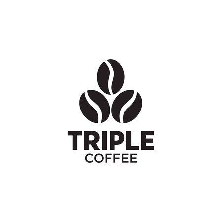 Coffee shop logo design vector template illustration