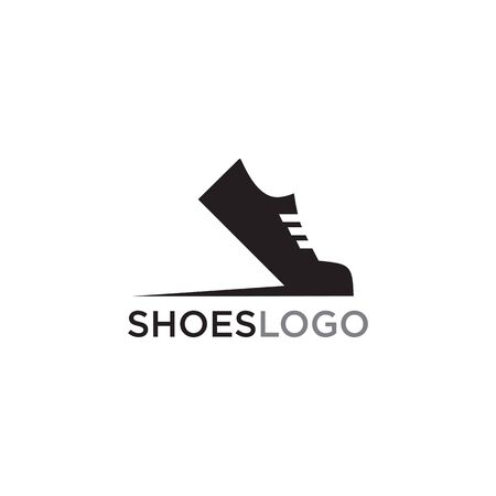 Shoes company icon logo design vector illustration template 向量圖像