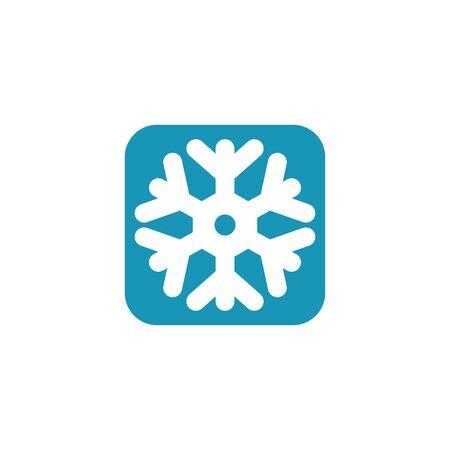 Snowflake logo design vector illustration icon template