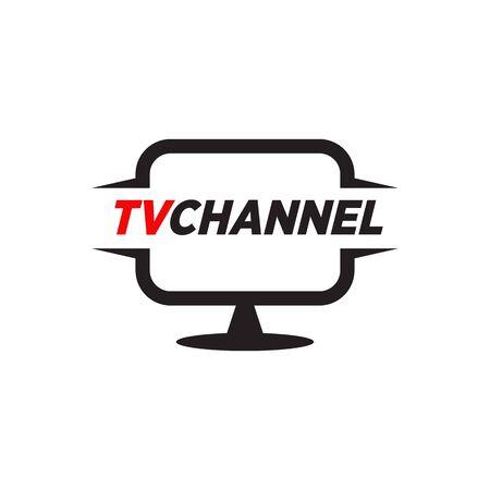 TV or Television icon logo design vector template illustration