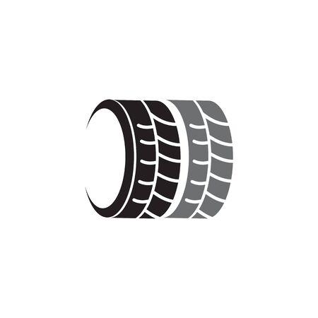 Tyre shop logo design vector illustration template illustration