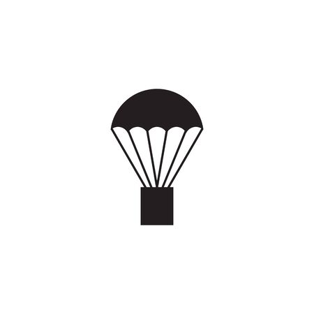 Hot air balloon icon logo design vector template illustration