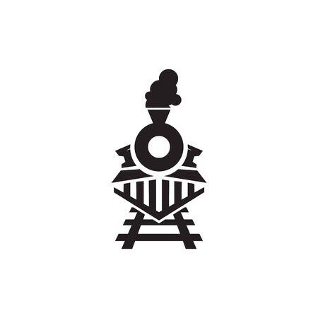 Train icon logo design vector illustration template