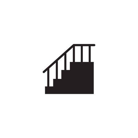 Stair icon logo design icon vector illustration template