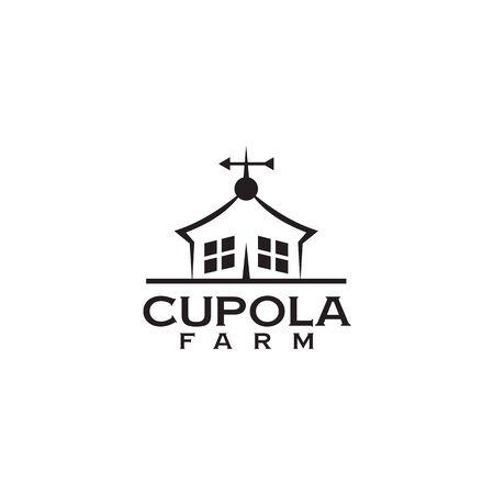 Cupola farm logo design icon vector illustration template