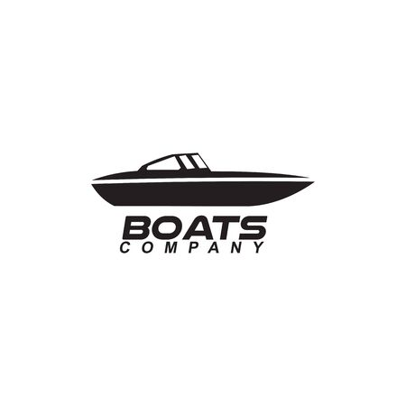 Boat logo design vector icon illustration template