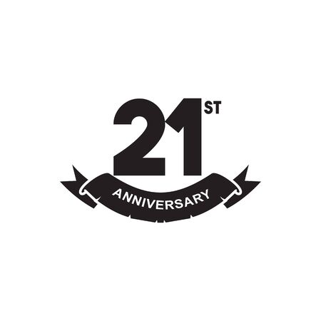 21st year anniversary design vector illustration template
