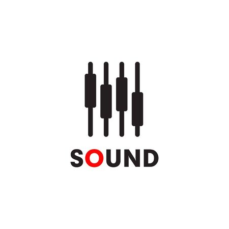 Music sound app design vector illustration template