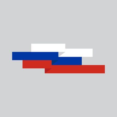 Russian flag icon logo design vector illustration template