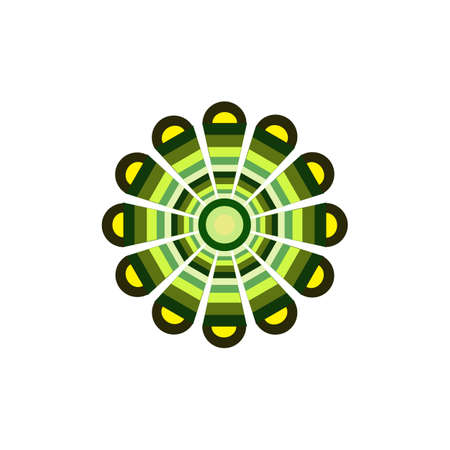 art dots painting icon logo design vector template 写真素材 - 151458242