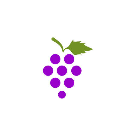 Grape fruit icon logo design vector template 写真素材 - 151458358